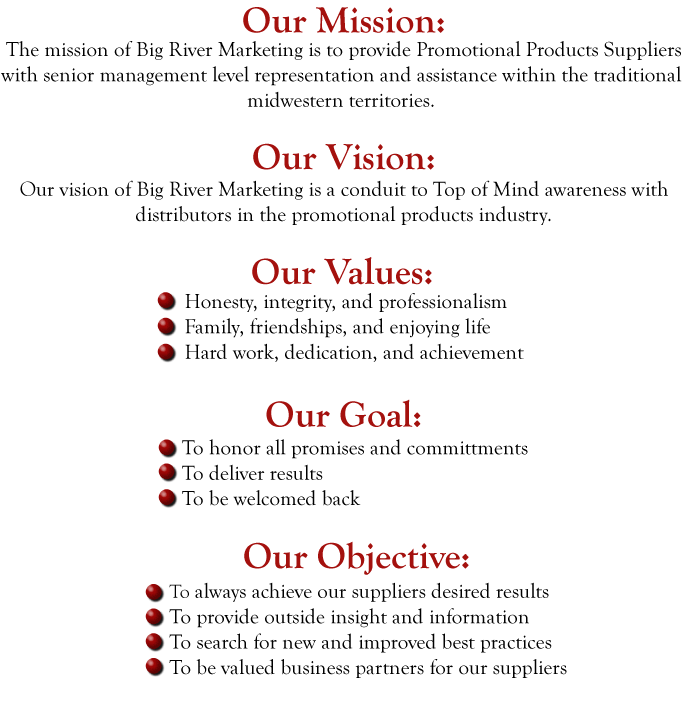 the big river marketing mission statement